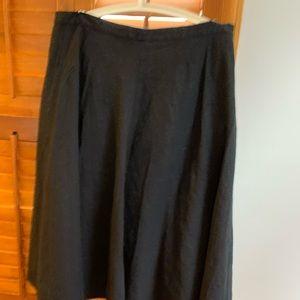 Mid Calf Length Black Skirt.  Size 14